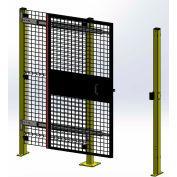 "Husky Rack & Wire, Velox, Machine Guard,Tunnel Door, Single 5'W x 7' 6""H, Slide Left to Open, Black"