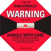 SpotSee™ ShockWatch® indicateurs d'impact L-47, gamme 50G, rouge, 50/box