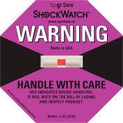 SpotSee™ ShockWatch® indicateurs d'impact L-55, gamme 75G, violet, 50/box