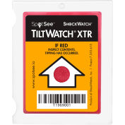 SpotSee™ TiltWatch® indicateur d'inclinaison XTR avec mécanisme anti-vibration, 100/Box