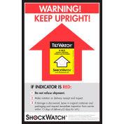 SpotSee™ TiltWatch® Companion Labels, 8-1/2» x 5-1/2», Jaune/Noir, 200/Box