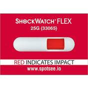SpotSee™ ShockWatch® Flex Single Tube Impact Indicators, 25G Range, 100/Box
