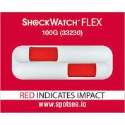 SpotSee™ ShockWatch® Flex Double Tube Impact Indicators, 100G Range, 100/Box