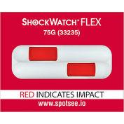 SpotSee™ ShockWatch® Flex Double Tube Impact Indicators, 75G Range, 100/Box