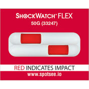 SpotSee™ ShockWatch® Flex Double Tube Impact Indicators, 50G Range, 100/Box