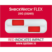 SpotSee™ ShockWatch® Flex Double Tube Impact Indicators, 25G Range, 100/Box