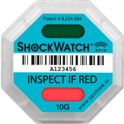 SpotSee™ ShockWatch® indicateurs d'impact RFID, gamme 10G, Sarcelle, 100/Box