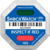 SpotSee™ ShockWatch® RFID Impact Indicators, 15G Range, Blue, 100/Box