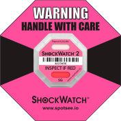 SpotSee™ ShockWatch® RFID Impact Indicators, 5G Range, Pink, 100/Box