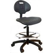 "WSI 750 Series Chair 750-ESD, ESD Polyurethane, Nylon Base, 20""-30""H, Black"