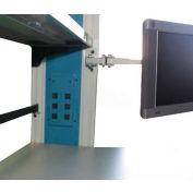"WSI PB Series Flat Screen Double Swing Arm, 1""W x 1""D, Gray"