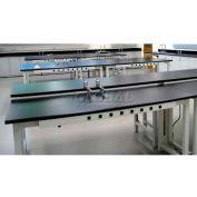 "WSI Adjustable Work Bench PB3096CR-BG, Laboratory, 30""D X 96""W X 75""H, Black Resin, Grey Epoxy"