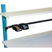 "WSI Parts Cup Rail PBPCR48-B, PB Series, For 48"" Bench, Black"