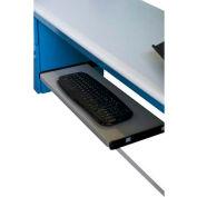 "WSI Slide Out Keyboard Shelf, 24""W x 12""D, Gray"
