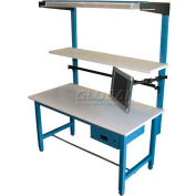 "WSI Slotted Upright Slu72-B, Pb Series, For 72"" Bench, Blue - Pkg Qty 2"