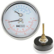 "2.71"" Boiler Gauge 1/4' NPT Rear w/ext 60-260F, 0-75PSI"