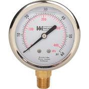 "2 1/2"" dial, liquid filled, 1/4"" NPT bottom, 0-60 PSI"