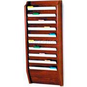 Wooden Mallet 10 Pocket Legal Size File Holder, Mahogany