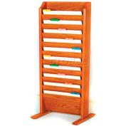 Wooden Mallet Free-Standing 10 Pocket Legal Size File Holder, Medium Oak