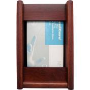 Wooden Mallet 1 Pocket Glove/Tissue Box Holder - Rectangle, Medium Oak