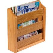 "Wooden Mallet™ Wall Mount or Countertop Magazine Rack 11""W Light Oak"