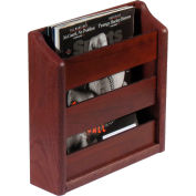 "Wooden Mallet™ Wall Mount or Countertop Magazine Rack 11""W Mahogany"