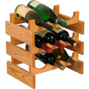 "9 Bottle Dakota™ Wine Rack, Light Oak, 14-1/2""H"