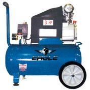 Eagle 653036L, 3 HP, Portable Compressor, 6.5 Gallon, Horizontal, 125 PSI, 3.0 CFM, 1-Phase 110V