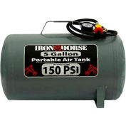 Iron Horse Portable Air Tank IHCT-05, 5 Gal, 150 PSI