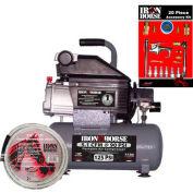 Iron Horse IHHD103L-AK, 1 HP, Hand Carry, 3.2 Gallon, Hot Dog, 125 PSI, 5.1 CFM, 1-Phase 115V