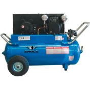 Eagle P4125H1, 4 HP, Portable Compressor, 25 Gallon, Horizontal, 150 PSI, 12.5 CFM, 1-Phase 208-230V