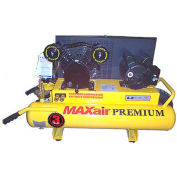 MaxAir TT318E-DV-MAP,3 HP,Wheelbarrow Compressor,8 Gallon,Horizontal,170 PSI,6 CFM,1-Phase 110/220V