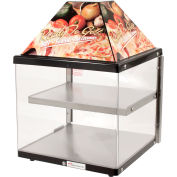 "Wisco Industries®2 00680-1-001-BLK, Shelf Pizza Display Warmer, 18"" W x 24""H x 18""D"