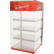 "Wisco Industries®4 Shelf Pizza Display Warmer, 18""W x 33""H x 18""D"