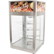 "Wisco Industries®Humidified Cabinet W/ 4 Tier Rotating Pizza Tree, 18-1/2""W x 32""H x 18-1/2""D"