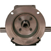 Worldwide HdRF325-15/1-DE-182/4TC Cast Iron Right Angle Worm Gear Reducer 15:1 Ratio 182/4T Frame