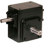 Worldwide HdRS133-60/1-R Cast Iron Right Angle Worm Gear Reducer 60:1 Ratio