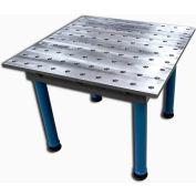 "Baileigh Industrial 39"" x 39"" 2D Steel Welding Jig Table, Q345 Steel, 2 Ton Capacity"