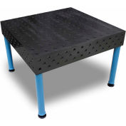 "Baileigh Industrial 47"" x 47"" Heavy Duty 3D Steel Welding Table w/ 5 Fixturing Surfaces, 2 Ton Cap."