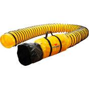 """XPOWER 25' L x 8 """"gaine Polyester tuyau annelé pour X-8-8DH25"""
