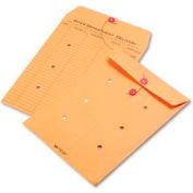 """Chaîne de parc de qualité et bouton Enveloppes inter-bureaux, 9""""W x 12""""H, Brun, Pack de 100"""