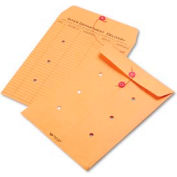 """Quality Park String & Button Interoffice Envelope, 10""""W x 15""""H, Brown, Pack of 100"""