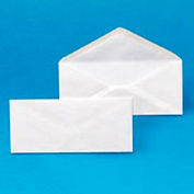 Plain Envelopes, #6-3/4, 3-5/8 x 6-1/2, 24-lb., White, 500/Box, 10 Boxes/Ctn