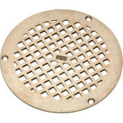 "Zurn 6"" Dia. Round Floor Drain W/Screws, Nickel"