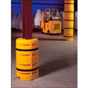 """Column Sentry® Column Protector, 16""""x 16"""" Square Opening, 33"""" O.D. x 42""""H, Yellow"""