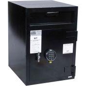 "FireKing Mail Box Drop Safe MB2720ICHS2SG40 19""W x 22""D x 27""H Electronic Lock - 3.57 Cu. Ft. Black"