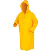MCR Safety 200CX3 Classic Rain Coat, 3X-Large, .35mm, PVC/Polyester, Detachable Hood, Yellow