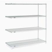 "Nexelate® Silver Epoxy Wire Shelving Add-On 60""W x 24""D x 63""H"