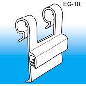 "Grip-Tite™ Wire Flush Sign Holder, 1-3/8""L x 1-3/8""W, Clear"