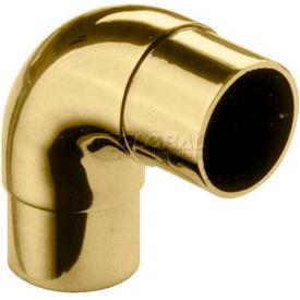 "Lavi Industries, Flush Elbow Fitting, Radius, for 1"" Tubing, Satin Stainless Steel"